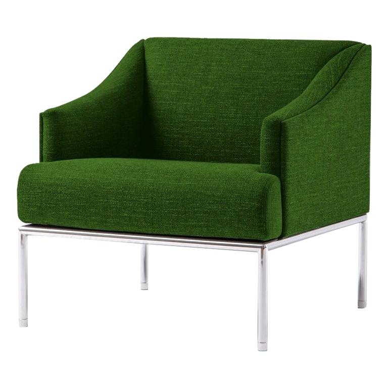 High Time Small Armchair in Green Hallingdal Fabric by Christophe Pillet For Sale