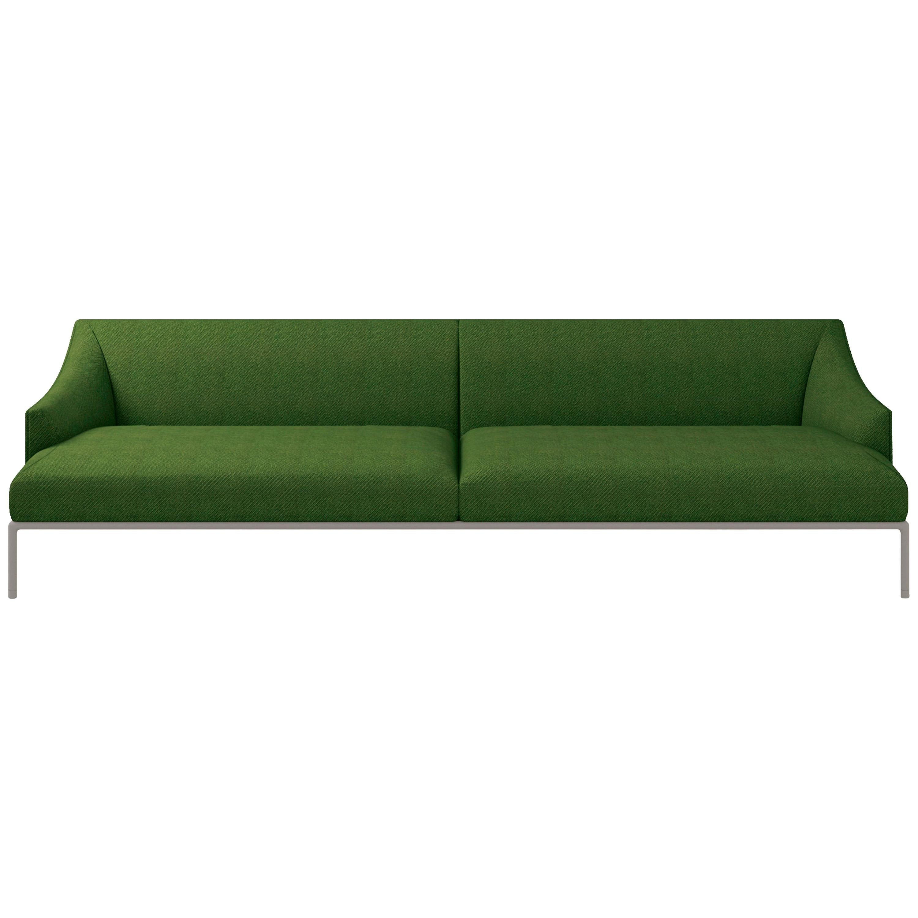 High Time Three-Seat Sofa in Green Hallingdal Fabric by Christophe Pillet