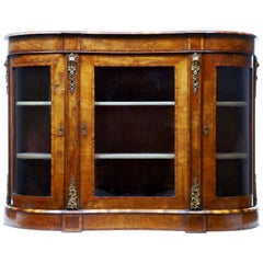 High Victorian 19th Century Walnut Credenza Sideboard
