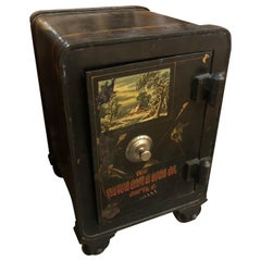High Victorian Working Floor Safe Secret Compartment and Key
