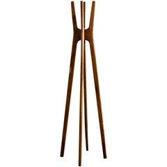 High Wooden Coat Rack