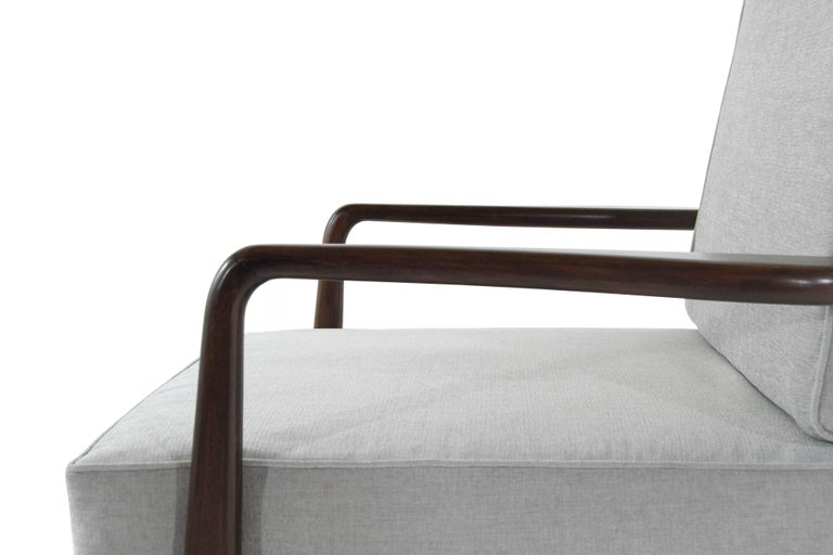High Back Walnut Armchair by Mel Smillow, 1950s For Sale 1