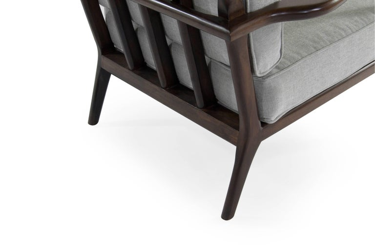 High Back Walnut Armchair by Mel Smillow, 1950s For Sale 2