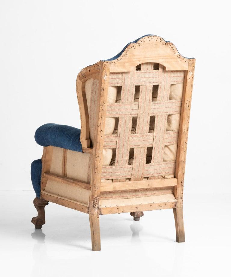 English Highback Winged Armchair, England, circa 1910 For Sale