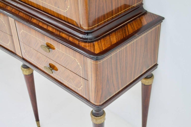 Brass Highboard or Credenza from Italy 1959 For Sale