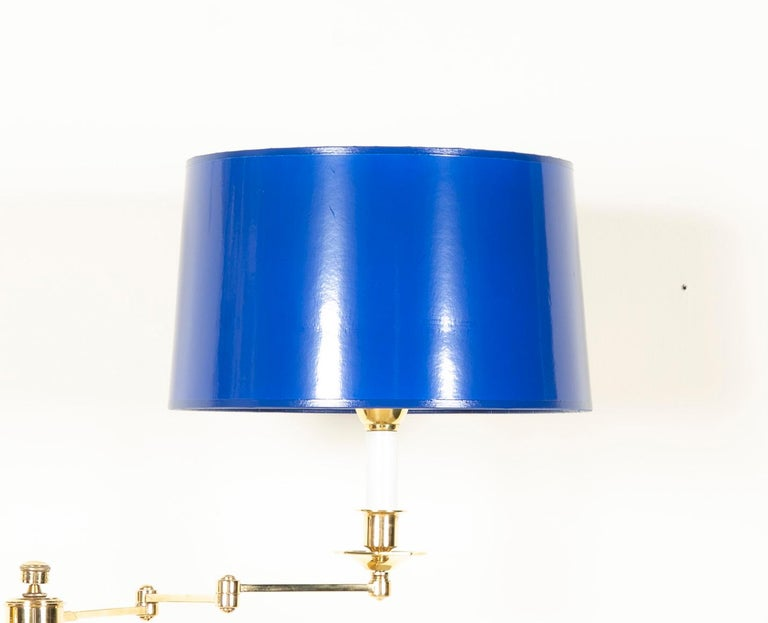 Highest quality solid brass French floor lamp, strongly attributed to Maison Meilleur, second half of the 20th century. Four available. Priced individually.