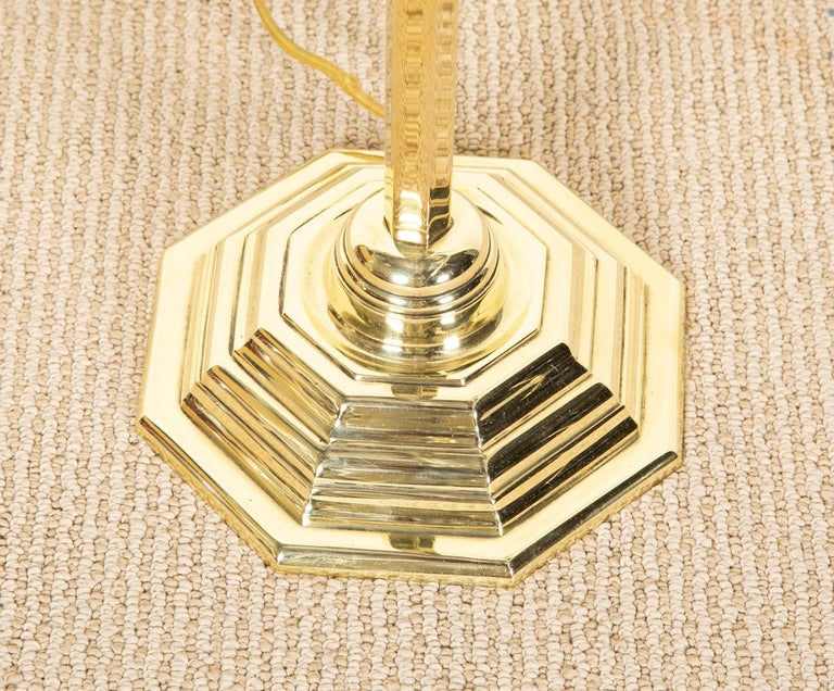 Highest Quality Solid Brass French Floor Lamp In Good Condition For Sale In Stamford, CT