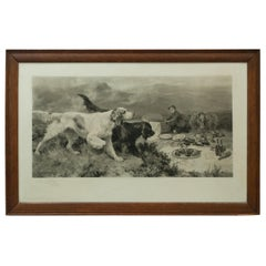 Highland Scene, Gamekeeper with Setters by Alfred Strutt, Game Picture