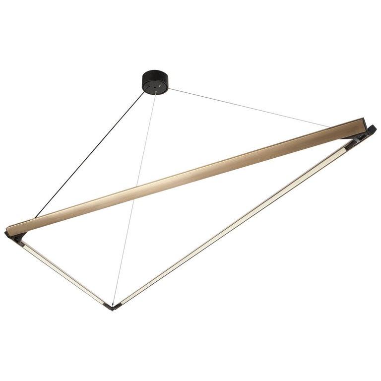 Highline 3D_01, Brass Geometric Sculptural Led Pendant ...