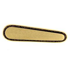Highly Attractive Midcentury Garnet 14 Karat Yellow Gold Lucien Piccard Tie Clip