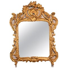 Highly Carved French Rococo Trumeau Mirror from the Louis XV Period
