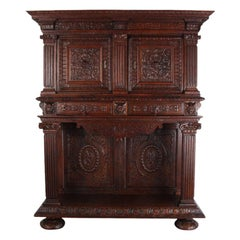 Highly-Carved Renaissance Revival Cabinet
