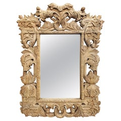Highly Carved Vintage Wooden Mirror