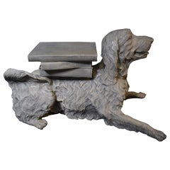 Highly Decorative Full Size Sculpture of a Dog Laying Down
