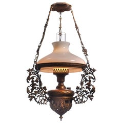Highly Detailed 1883 L&B Brevete Oil Lamp, Electrified