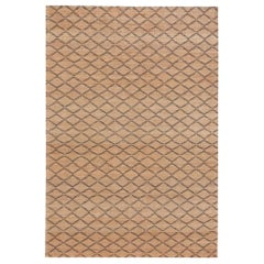 Highly Durable Customizable Ricochet Weave Rug in Black Large