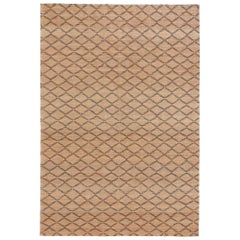 Highly Durable Customizable Ricochet Weave Rug in Black Small