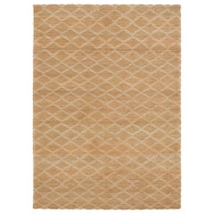 Highly Durable Customizable Ricochet Weave Rug in White Large