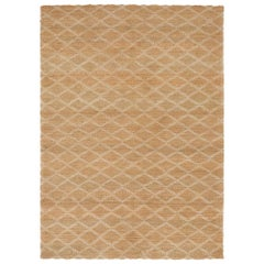 Highly Durable Customizable Ricochet Weave Rug in White X-Large