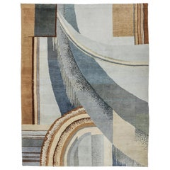 Highly Important Suite of Art Deco Rugs Design by Burkhalter for Pierre Chareau
