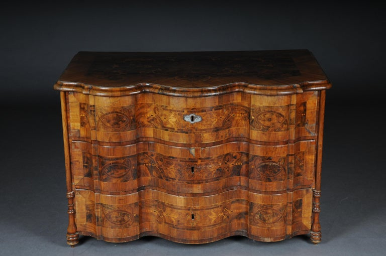 Highly Interesting Inlaid Baroque Commode, circa 1740 For Sale 8