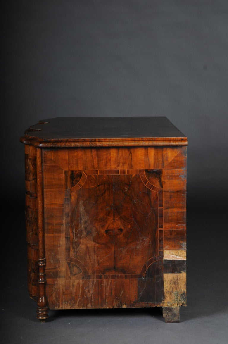 Highly Interesting Inlaid Baroque Commode, circa 1740 For Sale 10