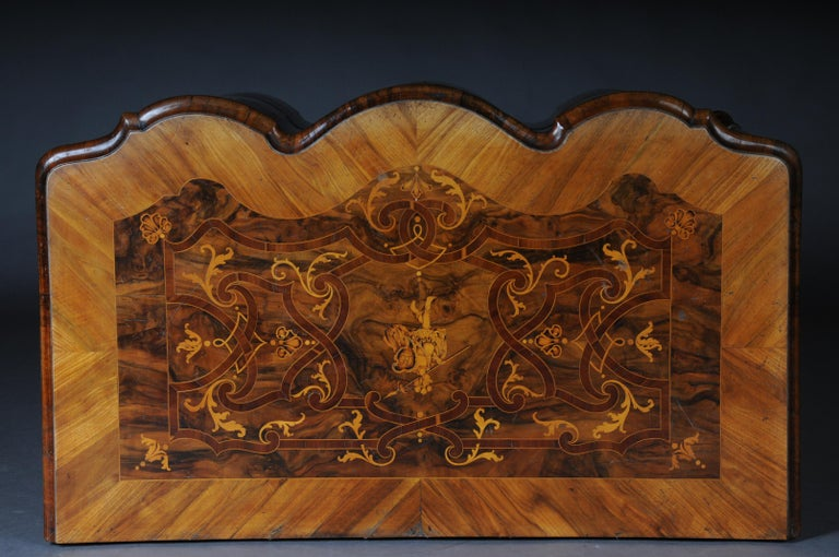 Highly Interesting Inlaid Baroque Commode, circa 1740 For Sale 12