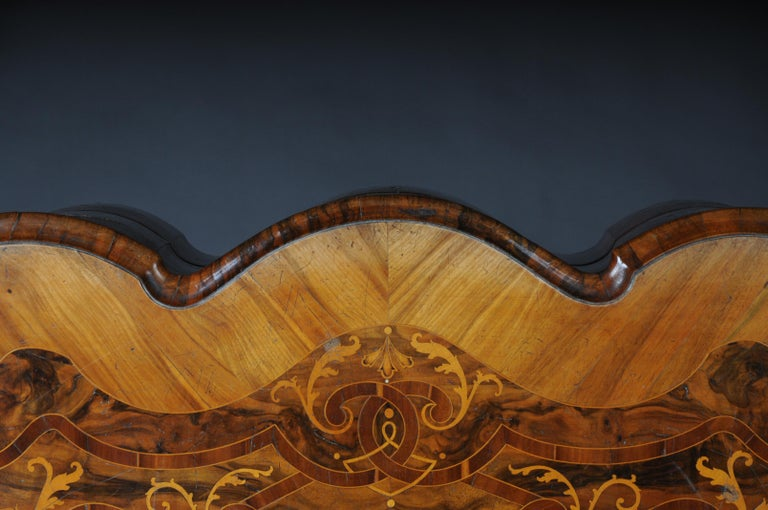 Highly Interesting Inlaid Baroque Commode, circa 1740 For Sale 13