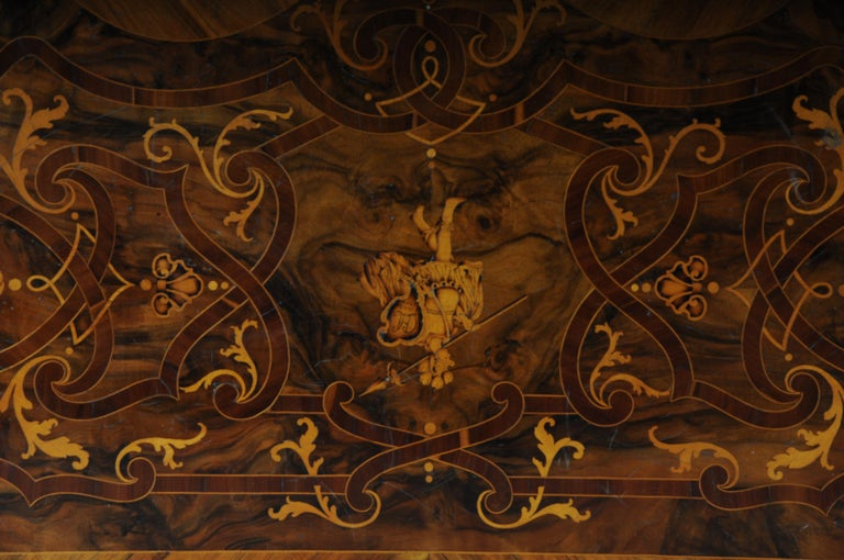 Highly Interesting Inlaid Baroque Commode, circa 1740 For Sale 14
