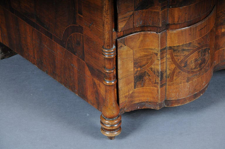 18th Century Highly Interesting Inlaid Baroque Commode, circa 1740 For Sale