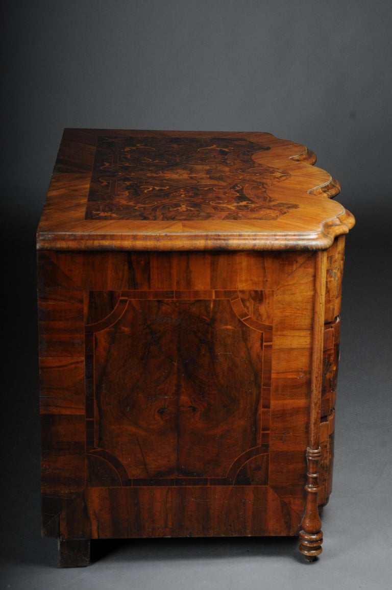 Highly Interesting Inlaid Baroque Commode, circa 1740 For Sale 1
