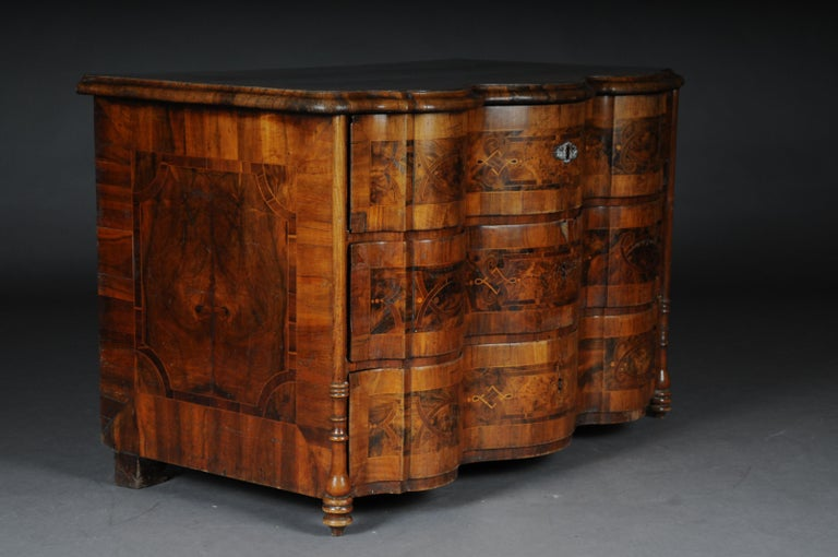 Highly Interesting Inlaid Baroque Commode, circa 1740 For Sale 2