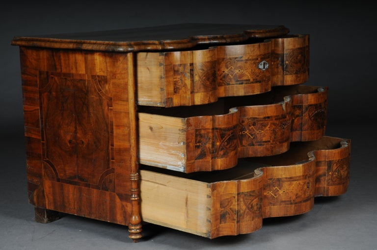 Highly Interesting Inlaid Baroque Commode, circa 1740 For Sale 3