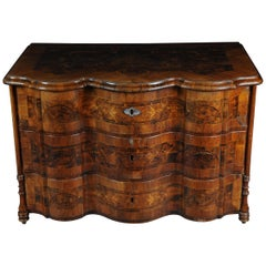 Highly Interesting Inlaid Baroque Commode, circa 1740