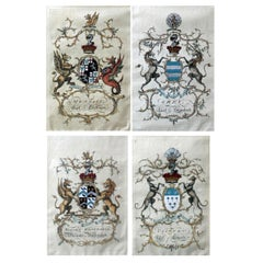 """Highy detailed, hand painted Old English series """"Cote of Arms"""""""