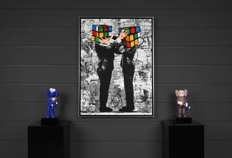 Hijack, 'Puzzled I', 2020 - Contemporary Painting by Hijack