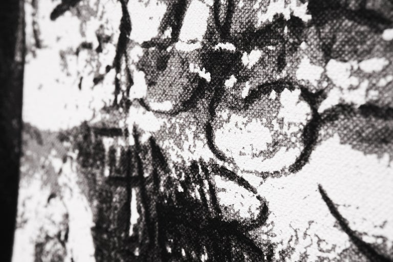 Hijack, 'Puzzled' I, 2020 - Black Figurative Painting by Hijack