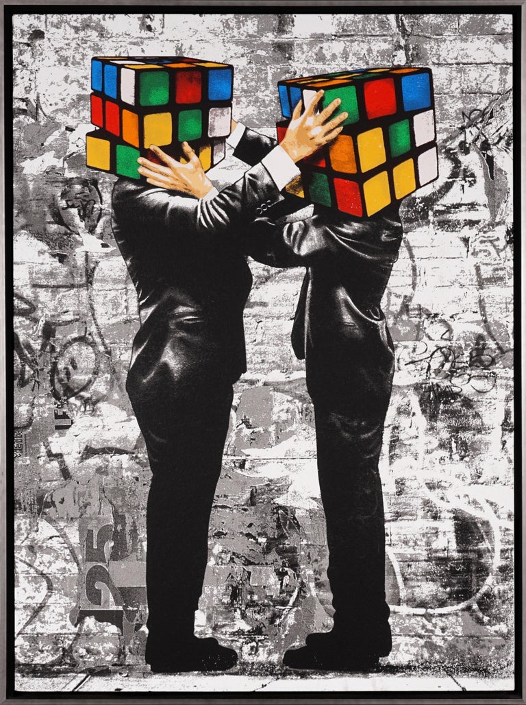 Hijack, 'Puzzled I', 2020 - Painting by Hijack