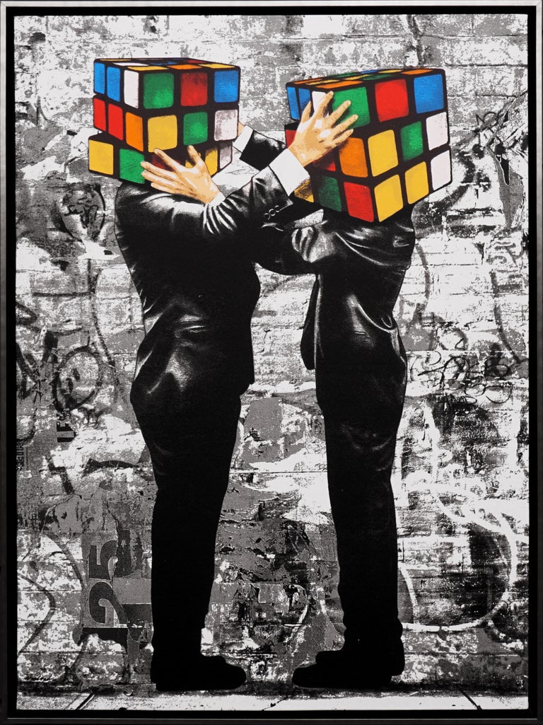Hijack, 'Puzzled' I, 2020 - Painting by Hijack