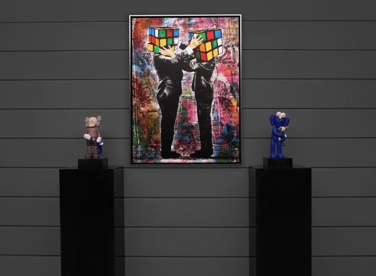 Hijack, 'Puzzled' II, 2020 - Contemporary Mixed Media Art by Hijack