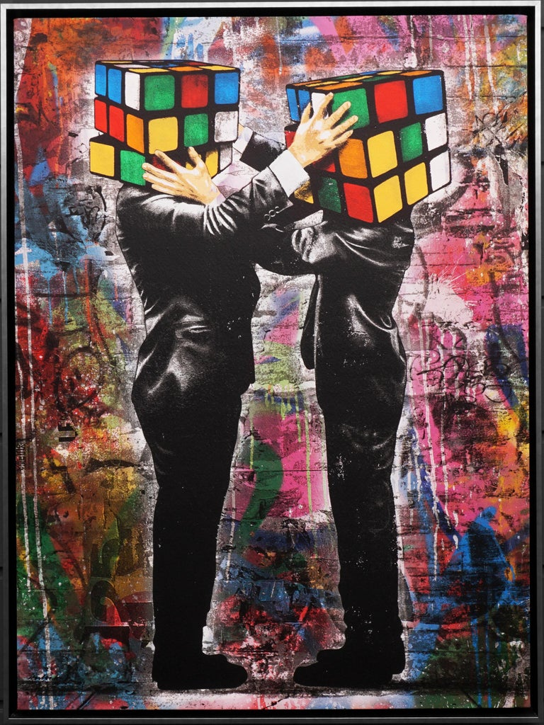 Hijack, 'Puzzled' II, 2020 - Mixed Media Art by Hijack
