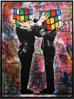 'Puzzled II' Street Art on Canvas, 2020