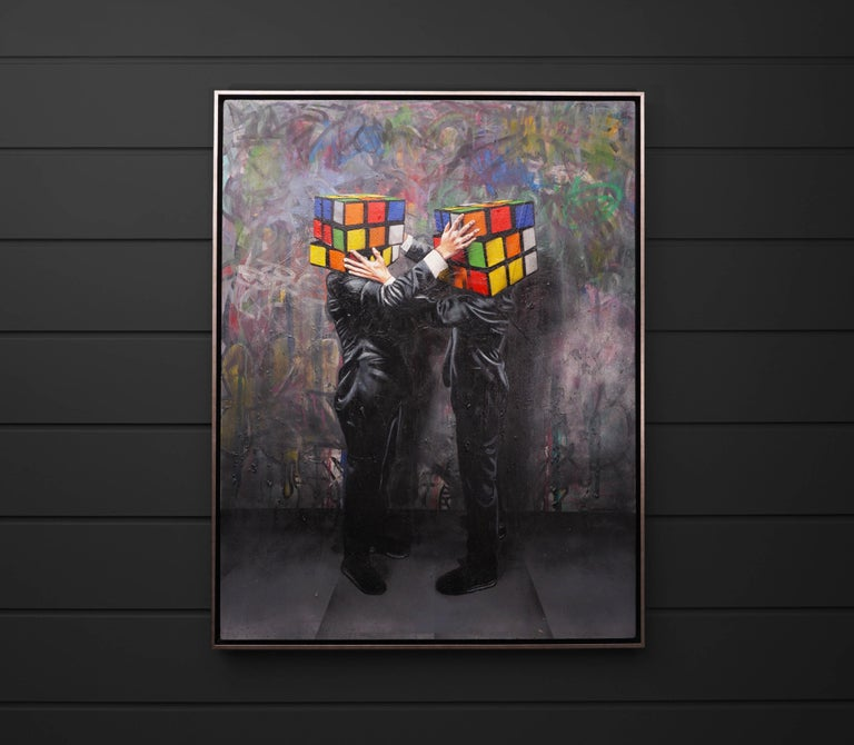 Hijack, Puzzled (Unique), 2019 - Contemporary Painting by Hijack