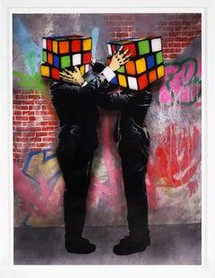 Hijack, 'Puzzled' (with Graffiti), 2021