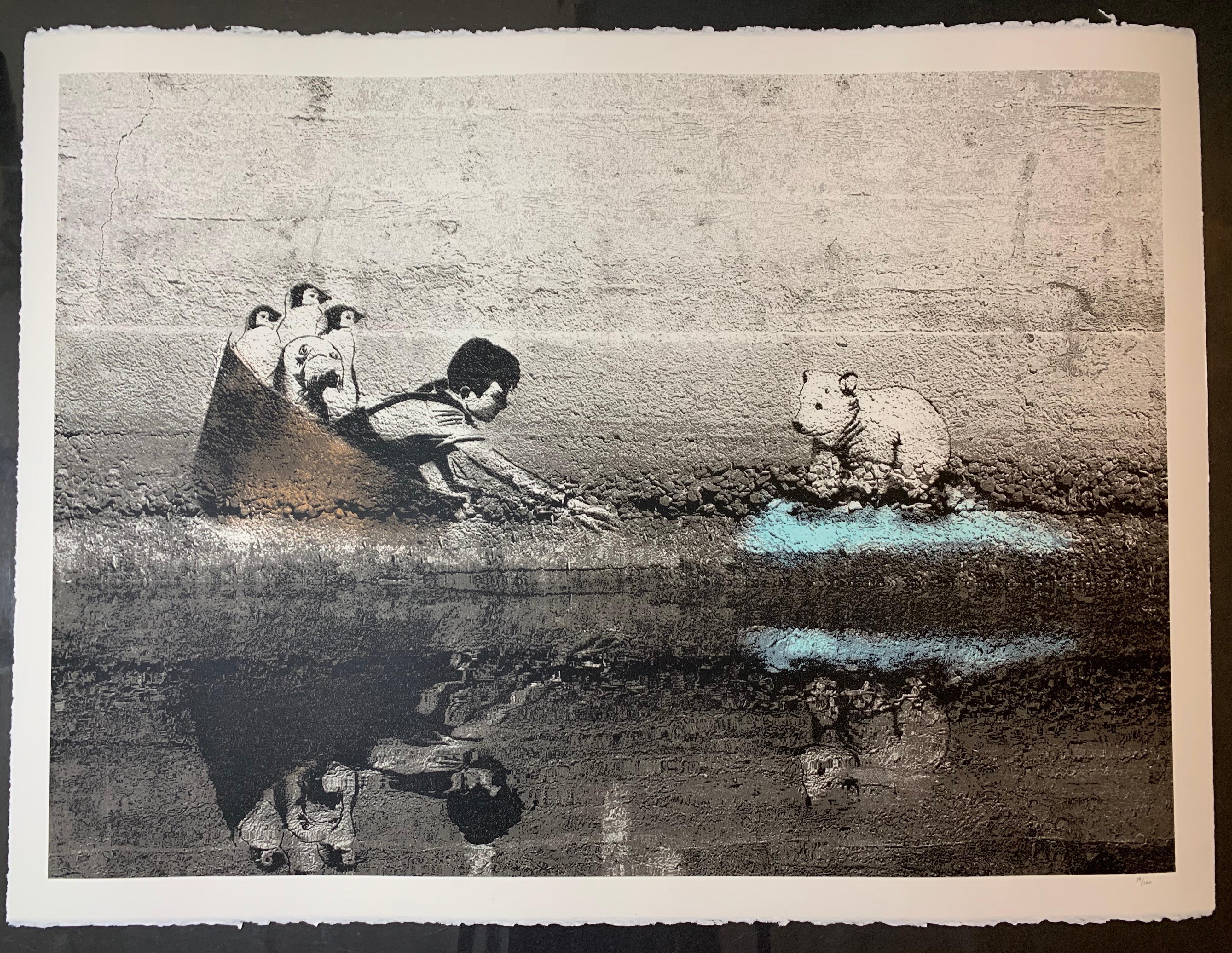 Hijack Print Dehabitation Rehabilitation Global Warming Print Polar Bear