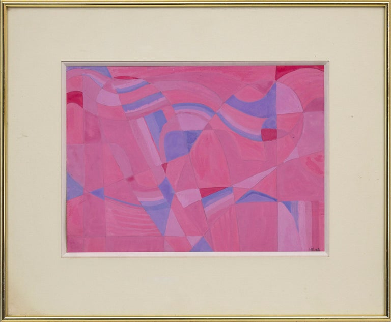 Untitled (Pink Study) - Abstract Mixed Media Art by Hilaire Hiler