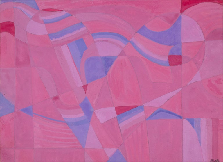 Untitled (Pink Study) - Mixed Media Art by Hilaire Hiler