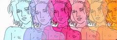Blue, Purple, Magenta, Pink, Peach, Orange
