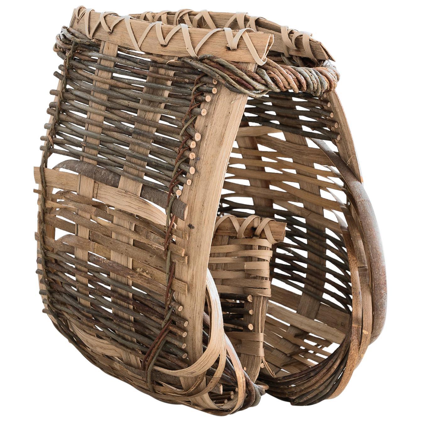"Hilary Burns Pair of baskets ""Catalan Carpace"", Willow, Contemporary Craft, 2020"