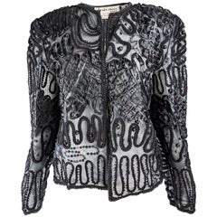 Hilary Floyd Vintage Beaded Embellished Jacket, 1980s